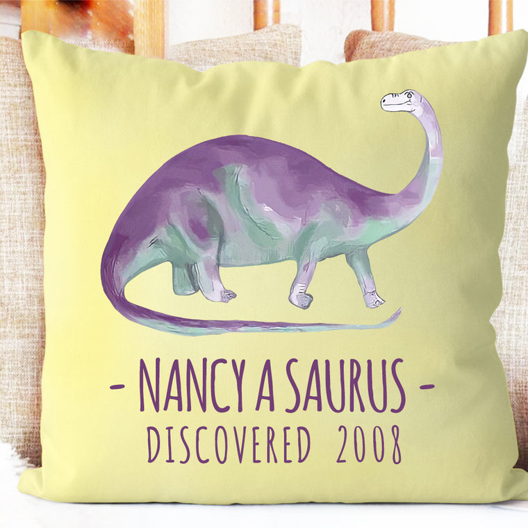 Personalized Dinosaur Name Pillowcase, Custom Dinosaur Kids Bedroom Decor II