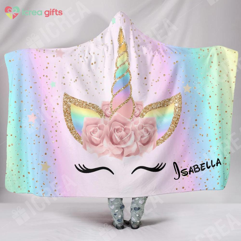 Magic Unicorn Hoodie Blanket