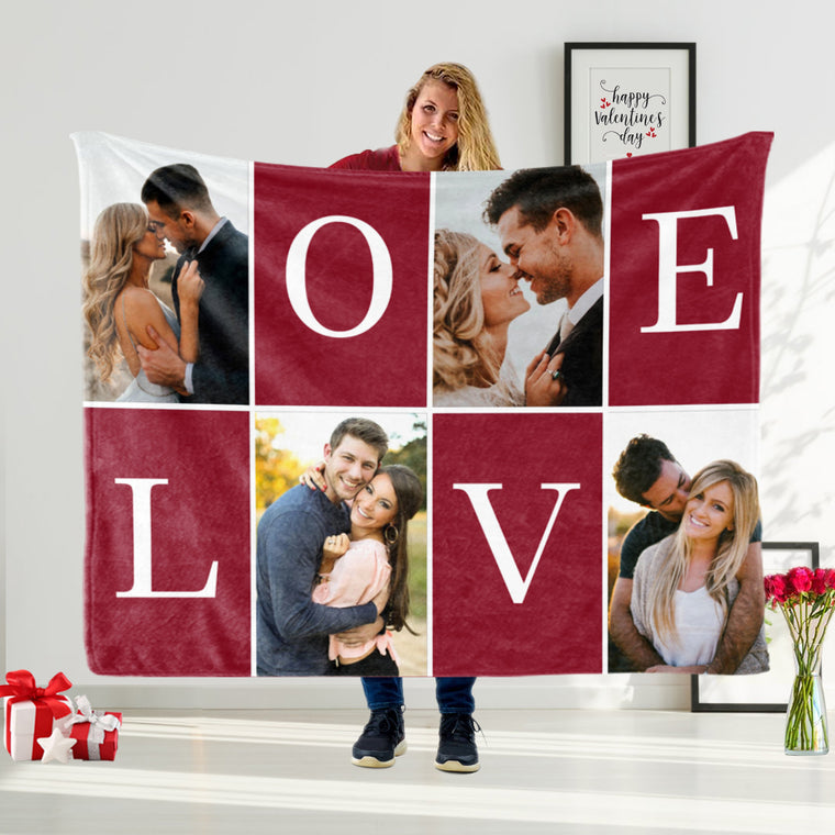 Custom Photo Valentine's Day Blanket II
