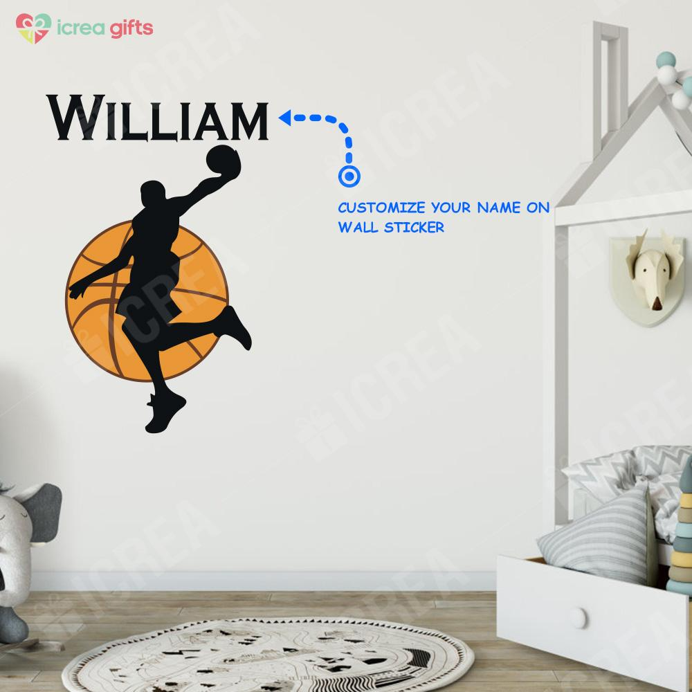 Personalized Basketball Wall Sticker