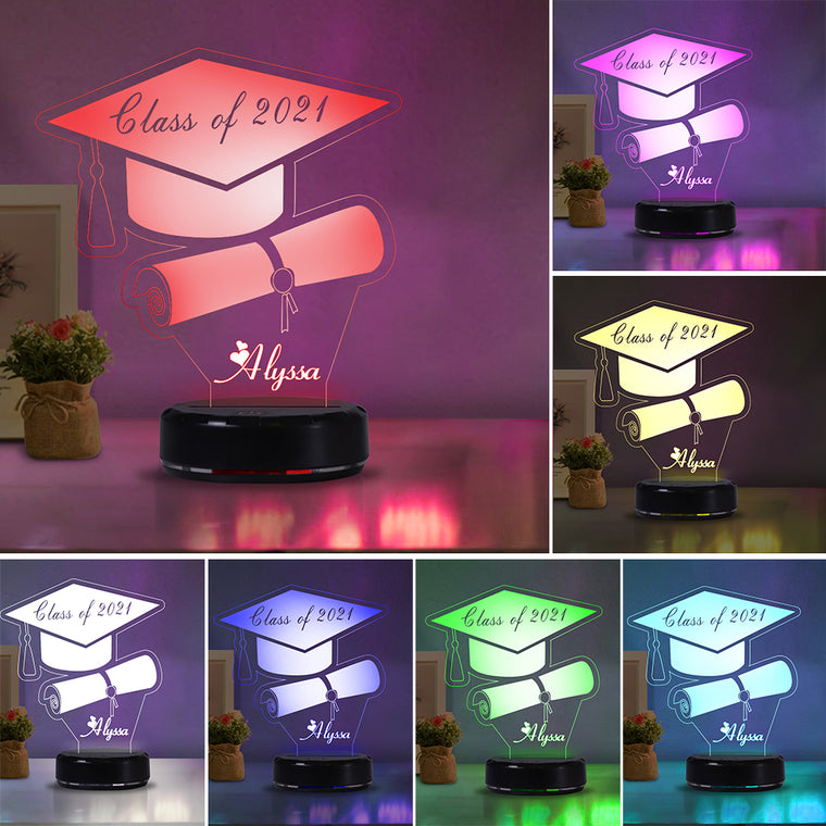 Custom Name Graduation Acrylic Night Lights II