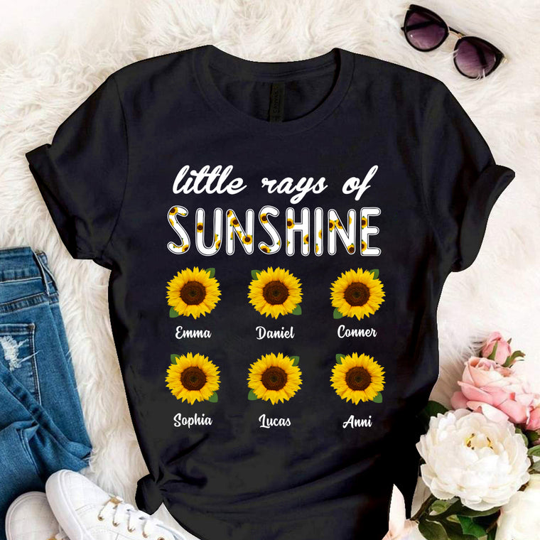 Custom Name Sunflower Unisex Heavy Cotton Tee