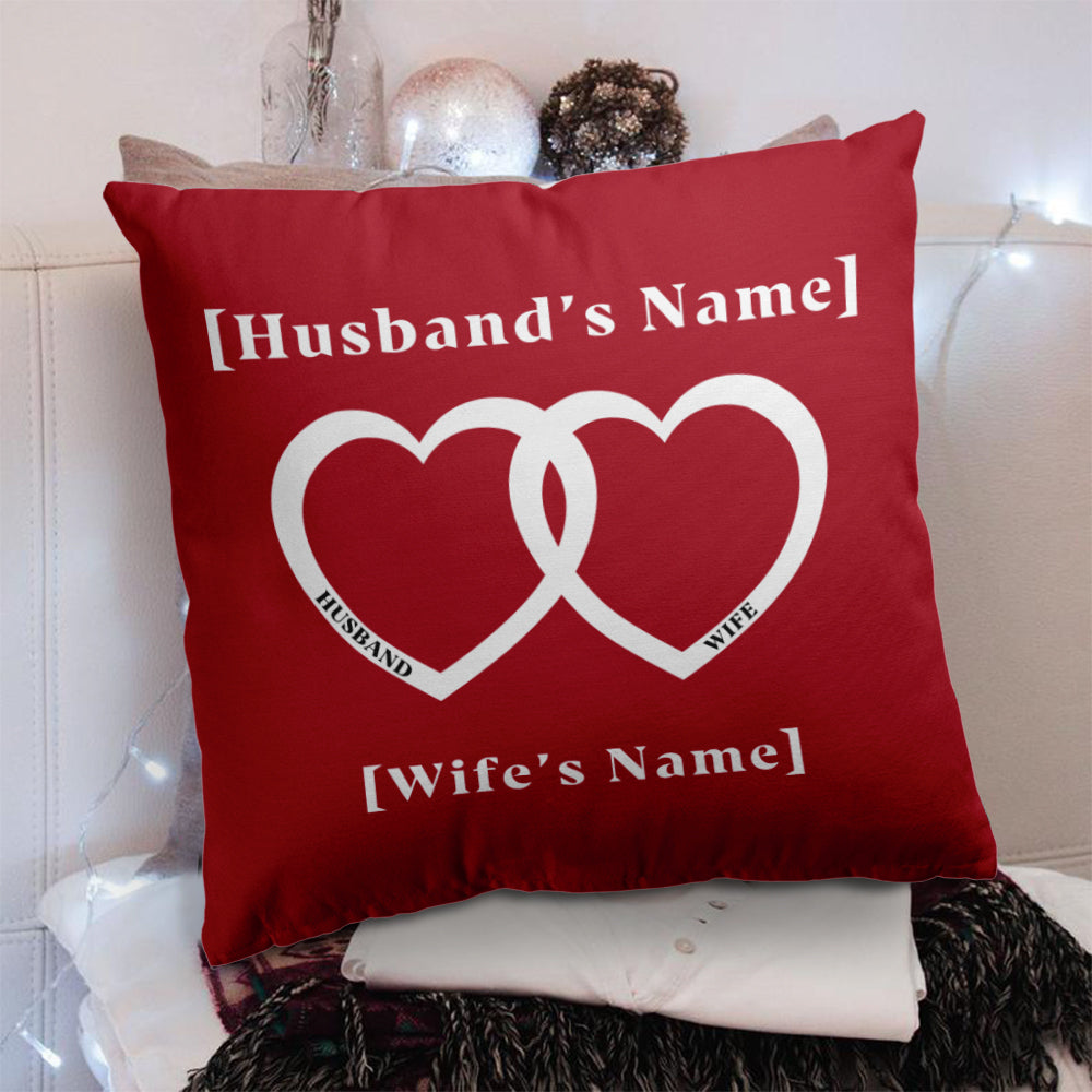 Personalized To My Wife/Husband Pillowcase With Custom Names II