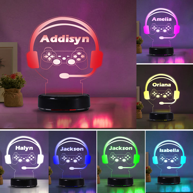 Custom Name Switch Earphone Night Lights