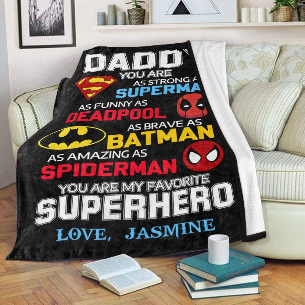 Custom Fleece Blankets with Nickname & Kids' Names Ⅴ - Perfect Birthday Holiday Gifts for Dad Uncle & Grandpa
