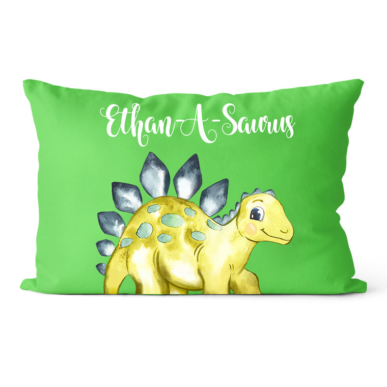 Personalized Dinosaur Name Pillowcase, Custom Dinosaur Kids Bedroom Decor IV