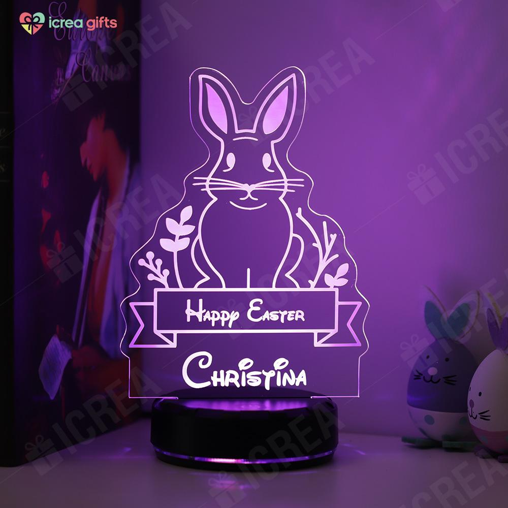 Personalized Easter Bunny LED Lamp