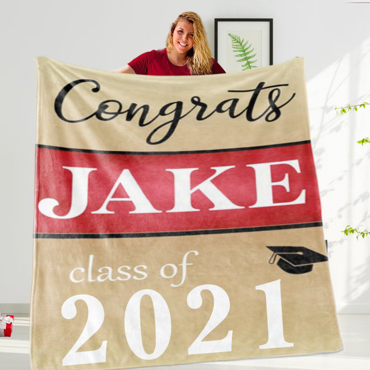 Custom Graduation Fleece Blankets for Class Of 2021 V
