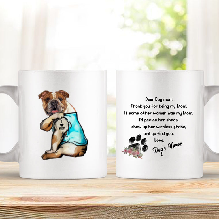 Mom and Dog Love Forever Custom Ceramic Mug 11oz