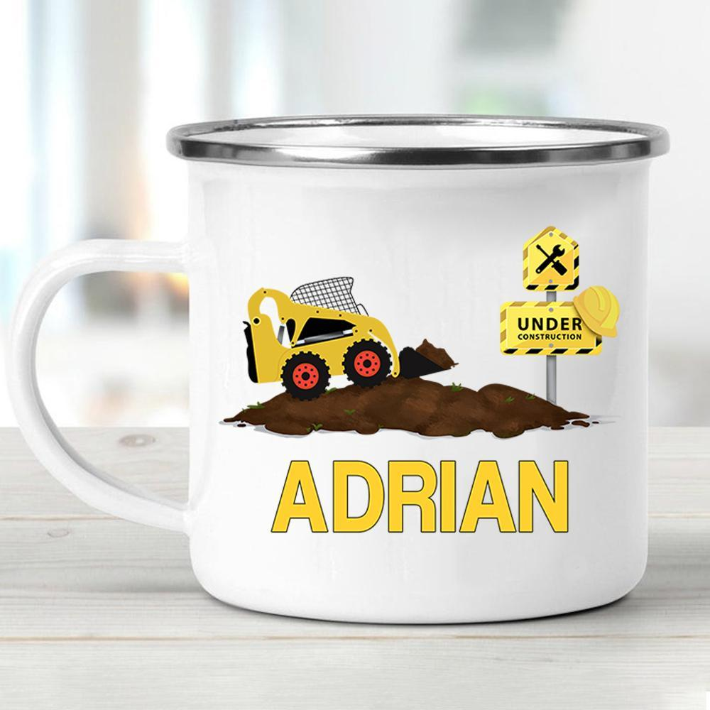 Custom Name Truck Children's Enamel Campfire Mug II