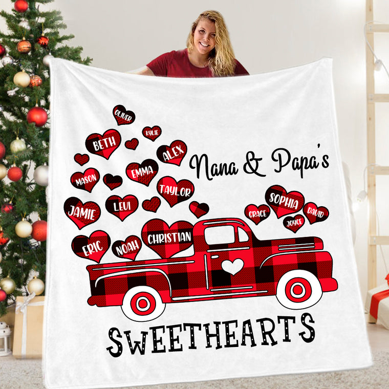 Custom Valentine's Day Blanket for Grandparents I