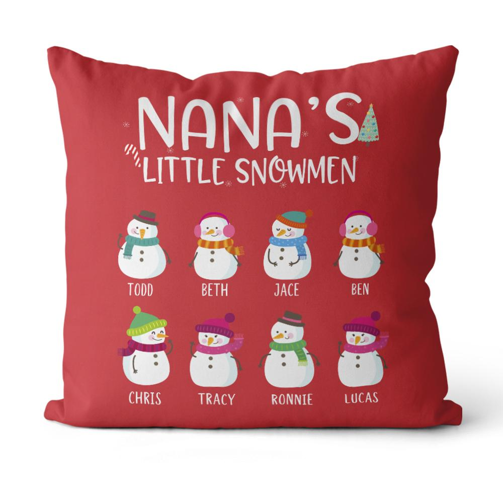 Personalized Little Snowman Christmas Family Member Pillowcase With Name