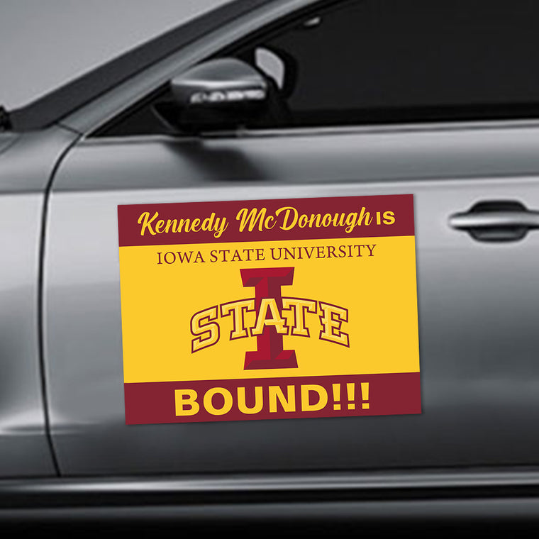 Custom School Name & Logo Graduation Car Magnets