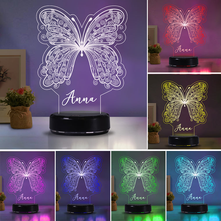 Personalized Butterfly Acrylic Light