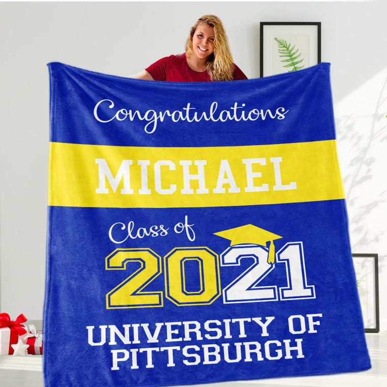 Custom Graduation Fleece Blankets for Class Of 2021 II