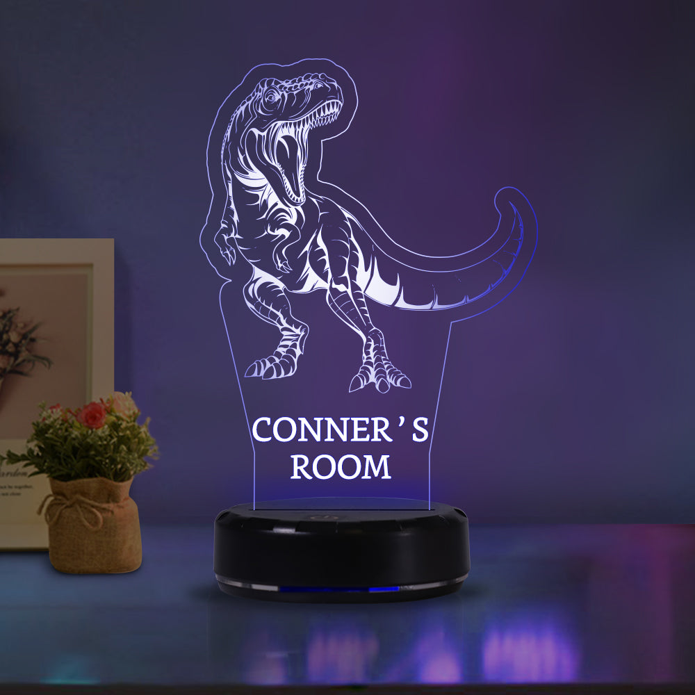 Custom Name Dinosaur Acrylic Light
