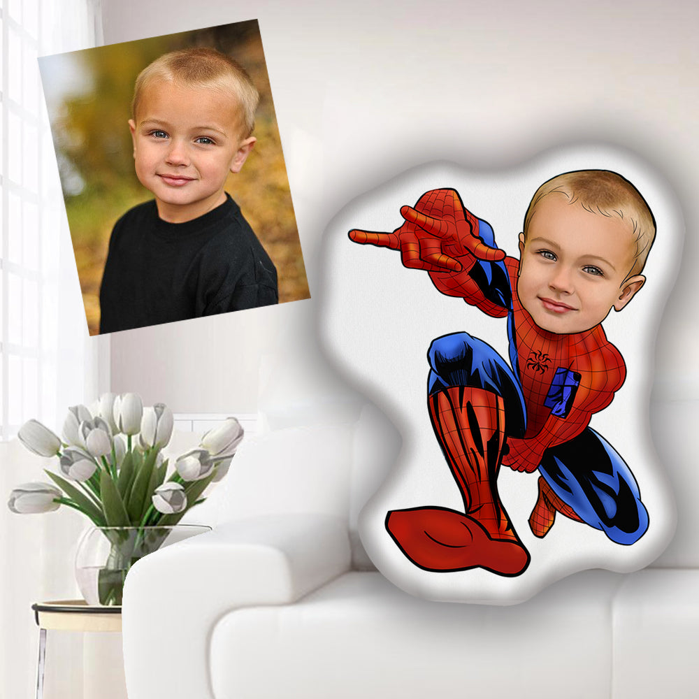 Custom Hand-drawing Kid Portrait Photo Shaped Pillow-Best Gift for Kids II