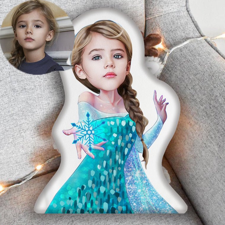 Custom Hand-drawing Kid Portrait Photo Shaped Pillow-Best Gift for Kids IV