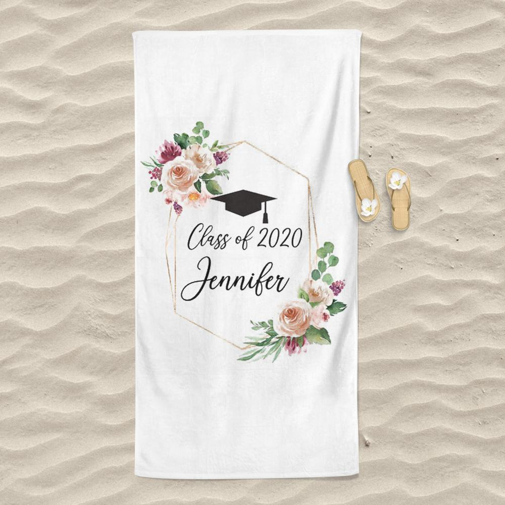 Personalized Graduation Beach Towel for Class Of 2020 VIII