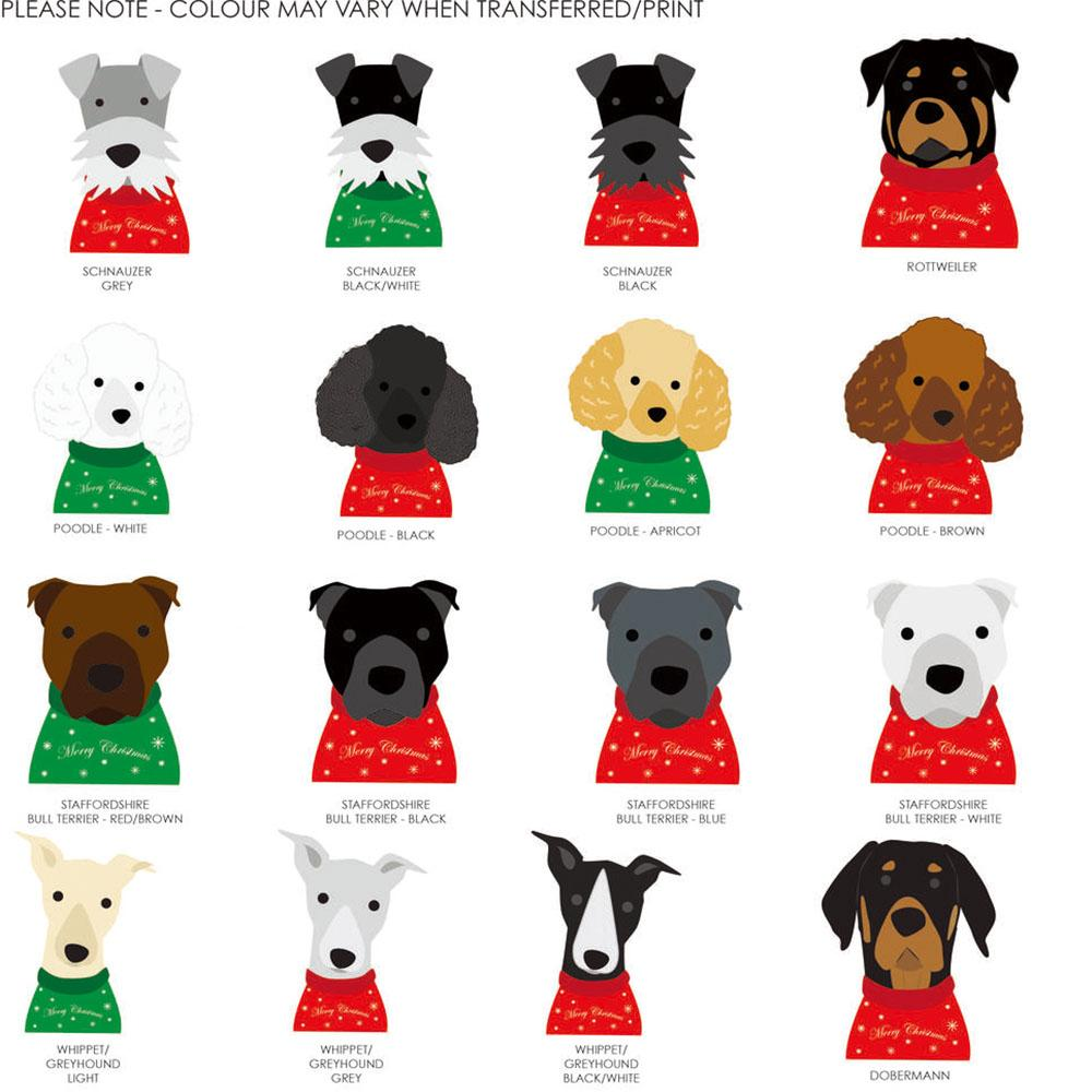 Personalized Dogs In Christmas Jumpers Wrapping Paper with Customized Name