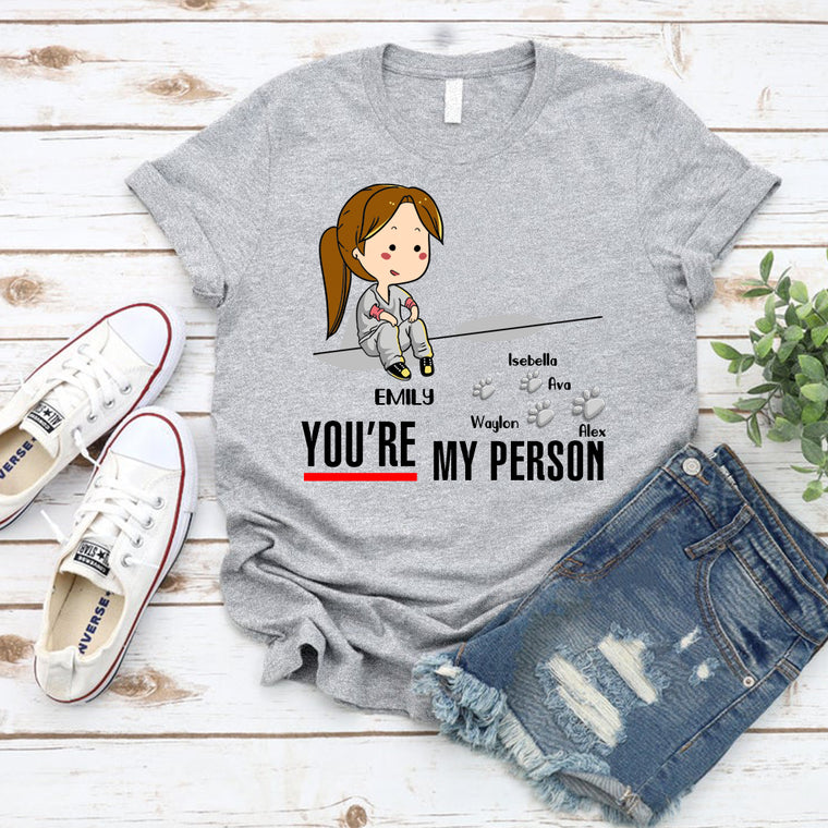 Custom You Are My Person Unisex Heavy Cotton Tee