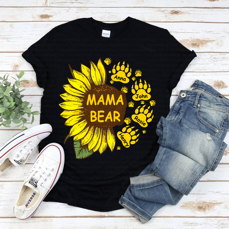 Custom Mama Bear Unisex Heavy Cotton Tee