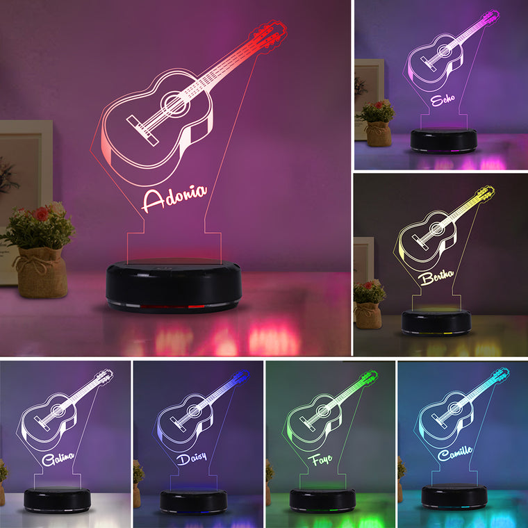 Custom Name Guitar Acrylic Night Lights