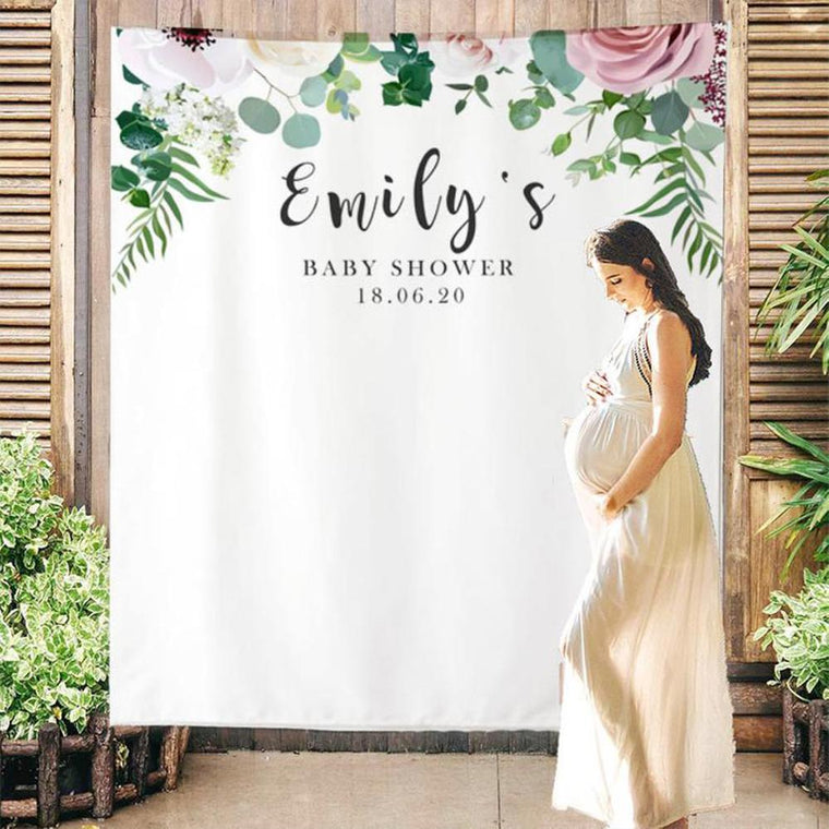 Custom Baby Shower Backdrop 04