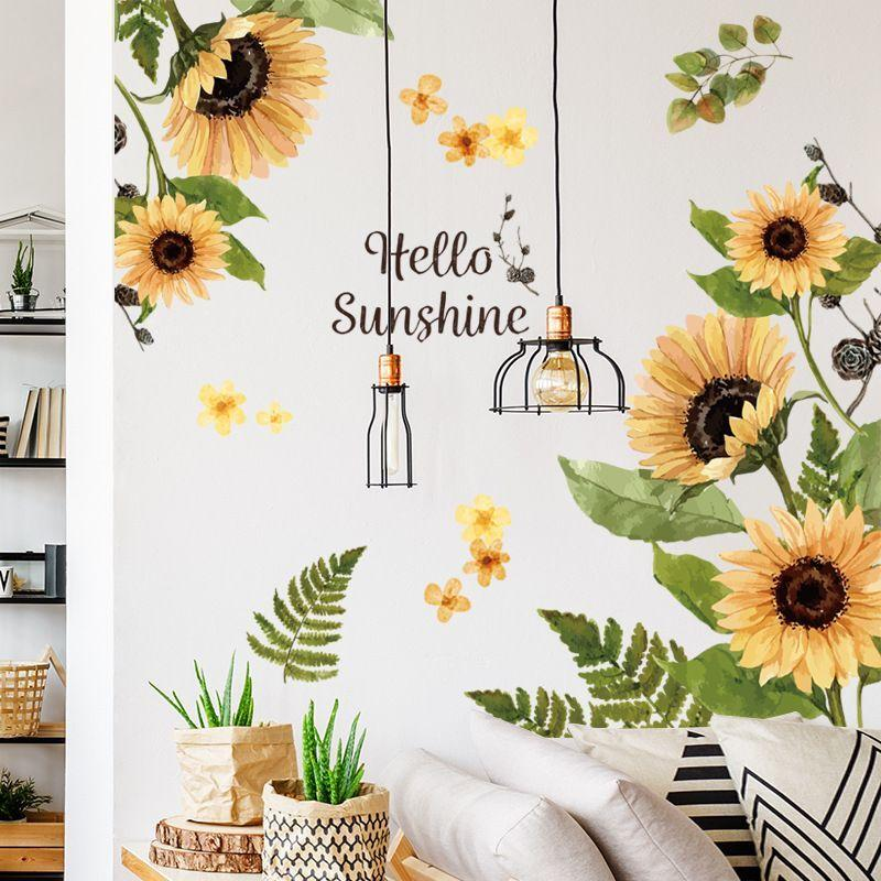 Sunflowers Decals Home Decoration Flower Wall Stickers Wall Art Decal 01