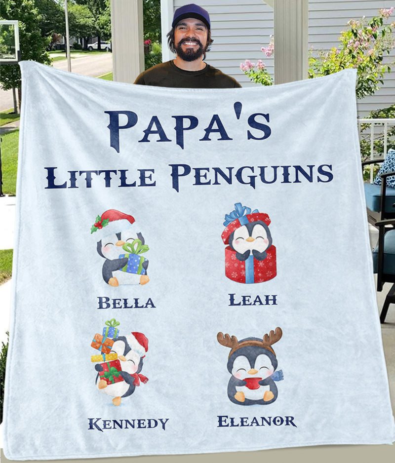 Custom CHRISTMAS BLANKET with Nickname & Kids Names