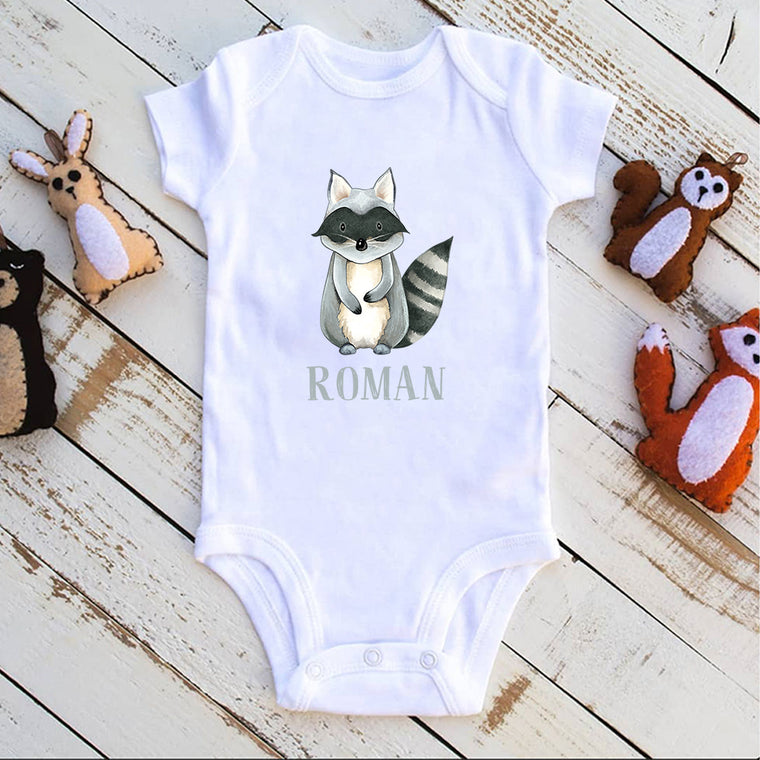 Custom Name Animal Infant Fine Jersey Bodysuit Ⅸ