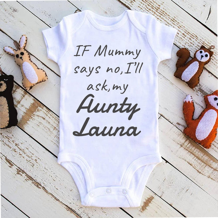 If Mommy Says No Custom Name Infant Fine Jersey Bodysuit
