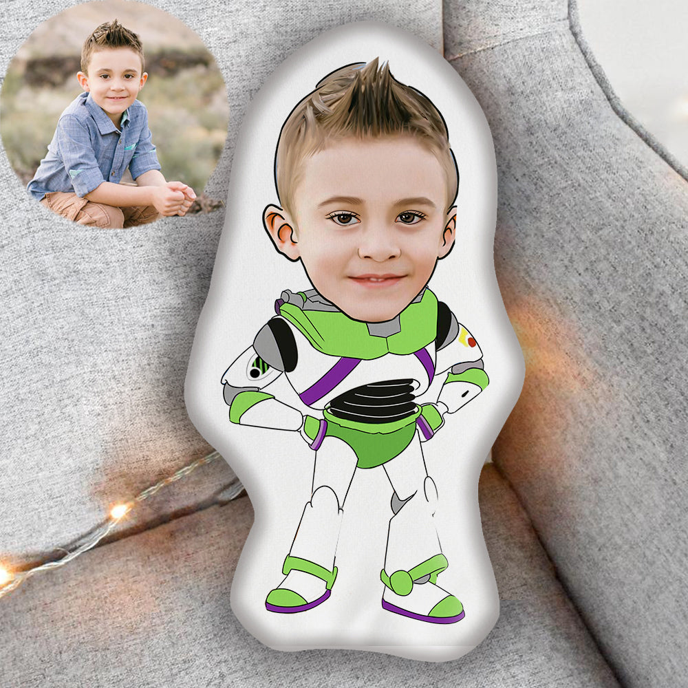 Custom Hand-drawing Kid Portrait Photo Shaped Pillow-Best Gift for Kids VII