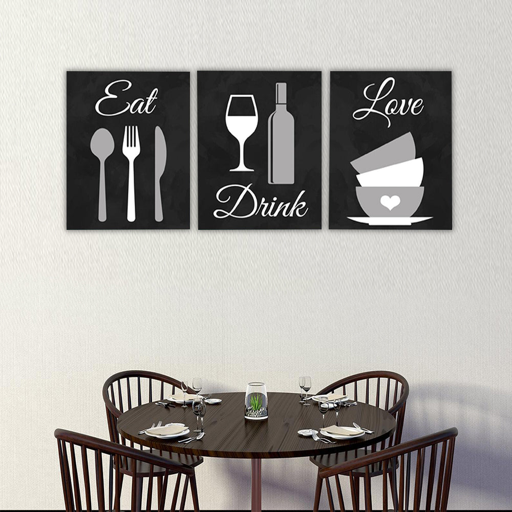 KITCHEN Canvas Art Set II