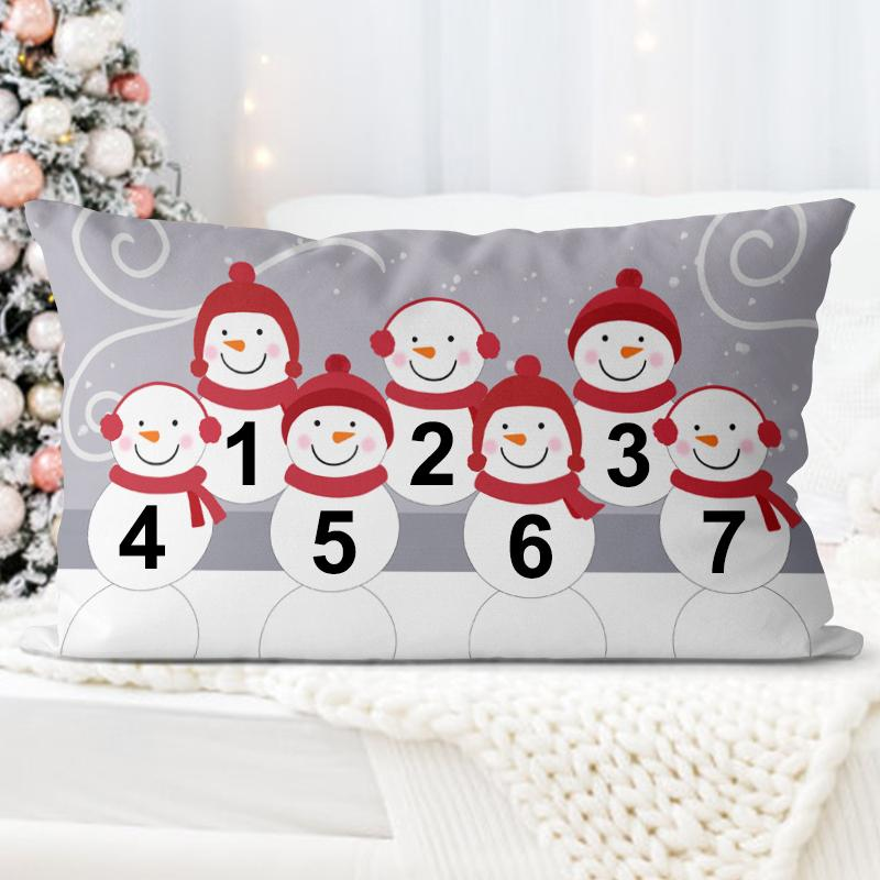 Personalized Snowman Family Pillow With Name