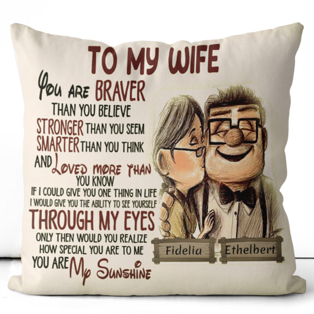 Personalized To My Wife/Husband Pillowcase With Custom Names III