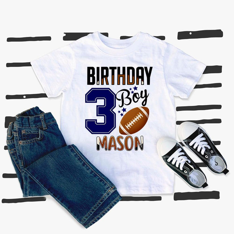 Custom Name Sport Kids Heavy Cotton Birthday Tee