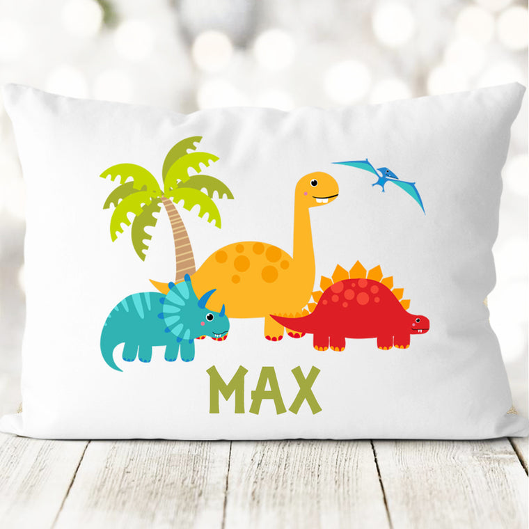 Custom Name Dinosaur Pillowcase