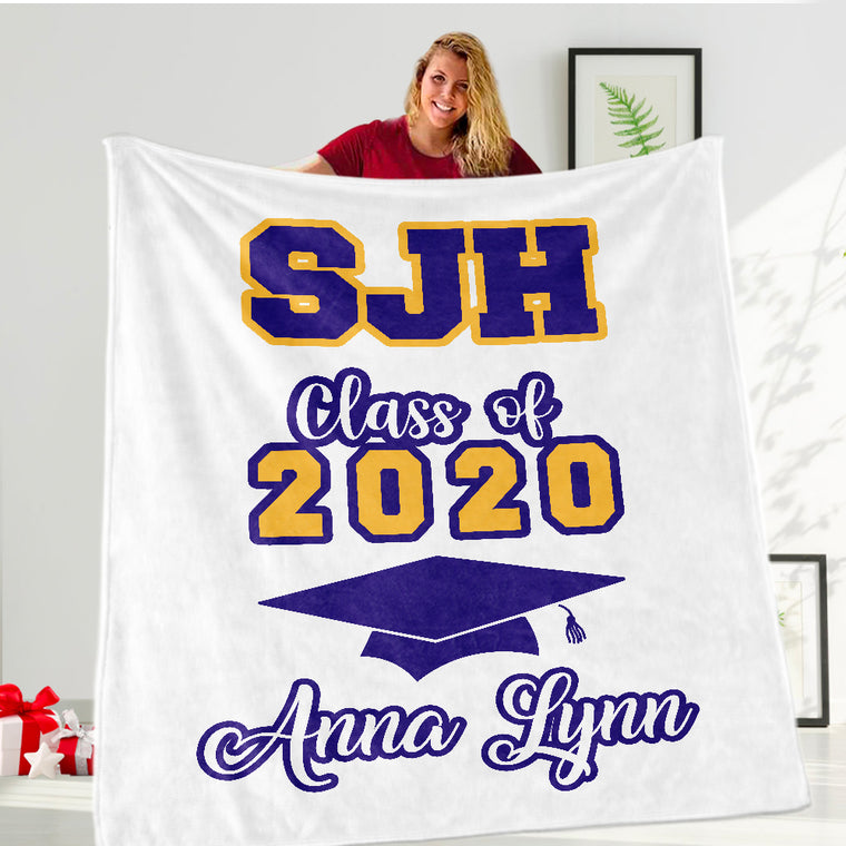 Custom Graduation Fleece Blankets for Class Of 2021 I