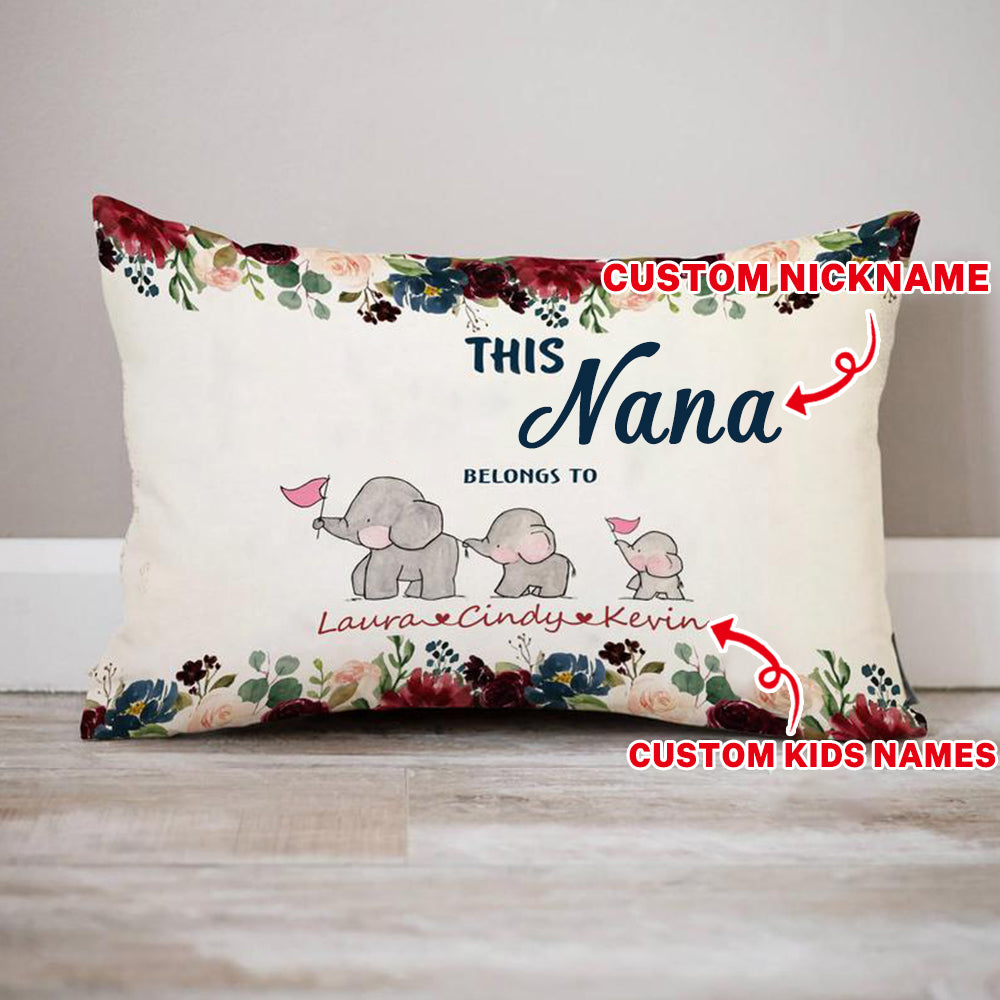 Personalized Christmas Elephant Pillowcase With Name III