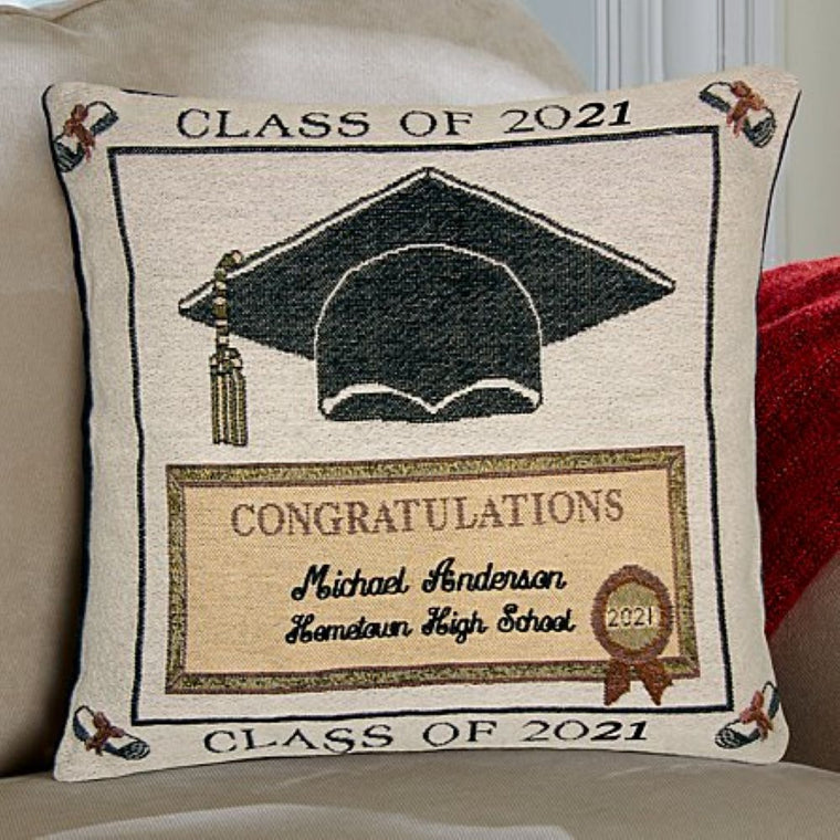 Custom Name And School Name Graduation Pillowcase