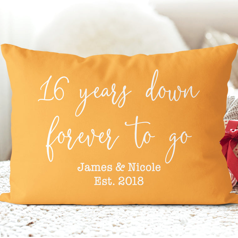 Custom Year and Name Anniversary Pillowcase I - Wedding Anniversary Gift