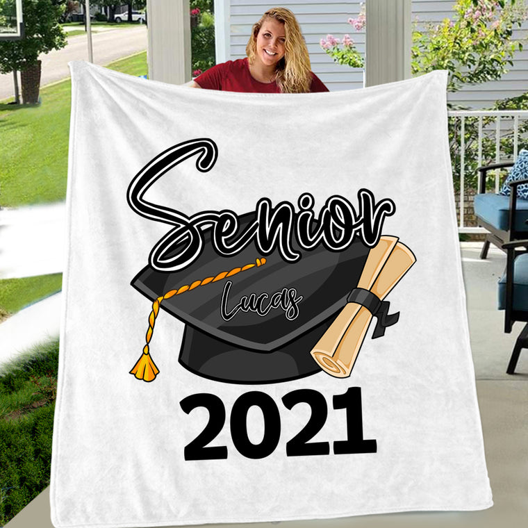 Personalized Graduation Fleece Blanket for Class Of 2021 V