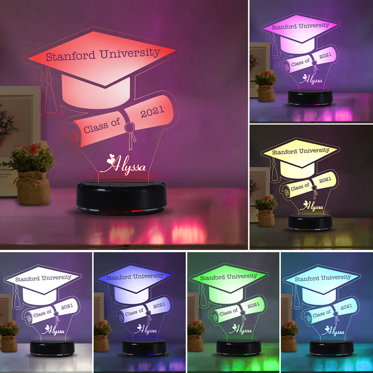 Custom Name Graduation Night Lights III