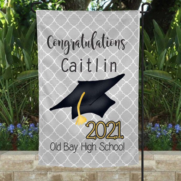 Custom Graduation Garden Flag 12X18