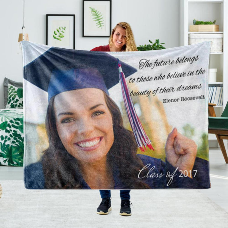 Personalized Graduation Fleece Blanket for Class Of 2020 XX