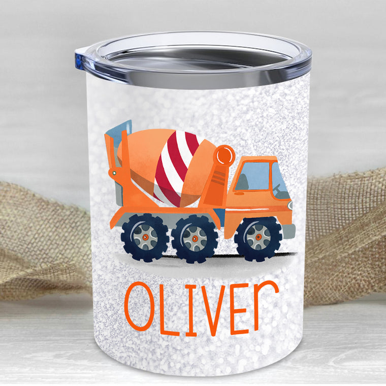Custom Name Truck Children's Travel Drink Tumbler 10oz I