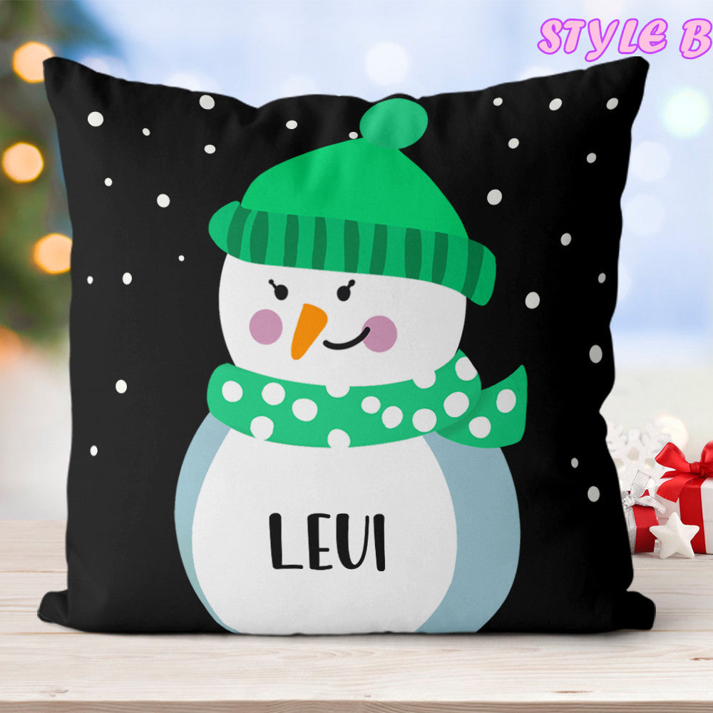 Custom Name Little Snowmen Children's Pillowcase