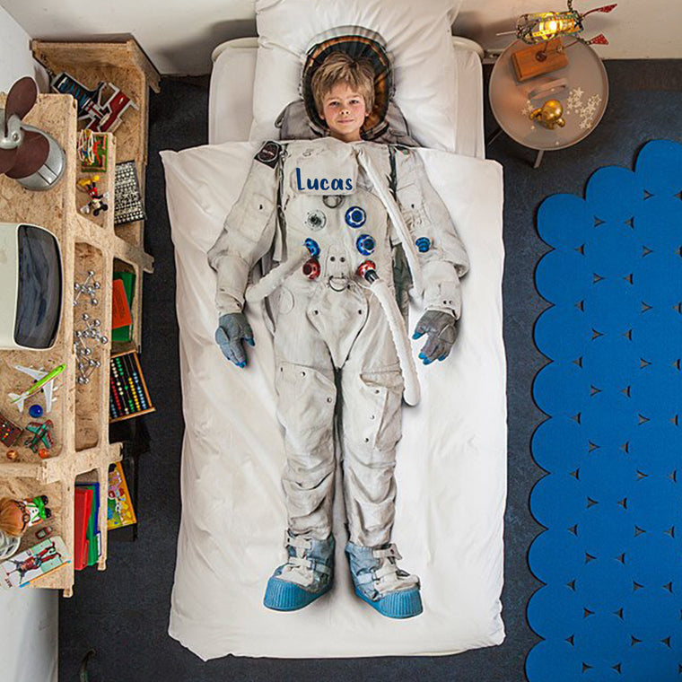 Personalized Name Kid ASTRONAUT  Microfiber Bedding Set XII