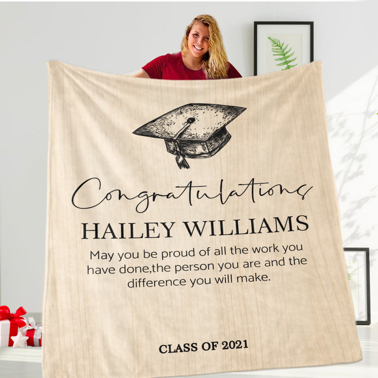Custom Graduation Fleece Blankets for Class Of 2021 III